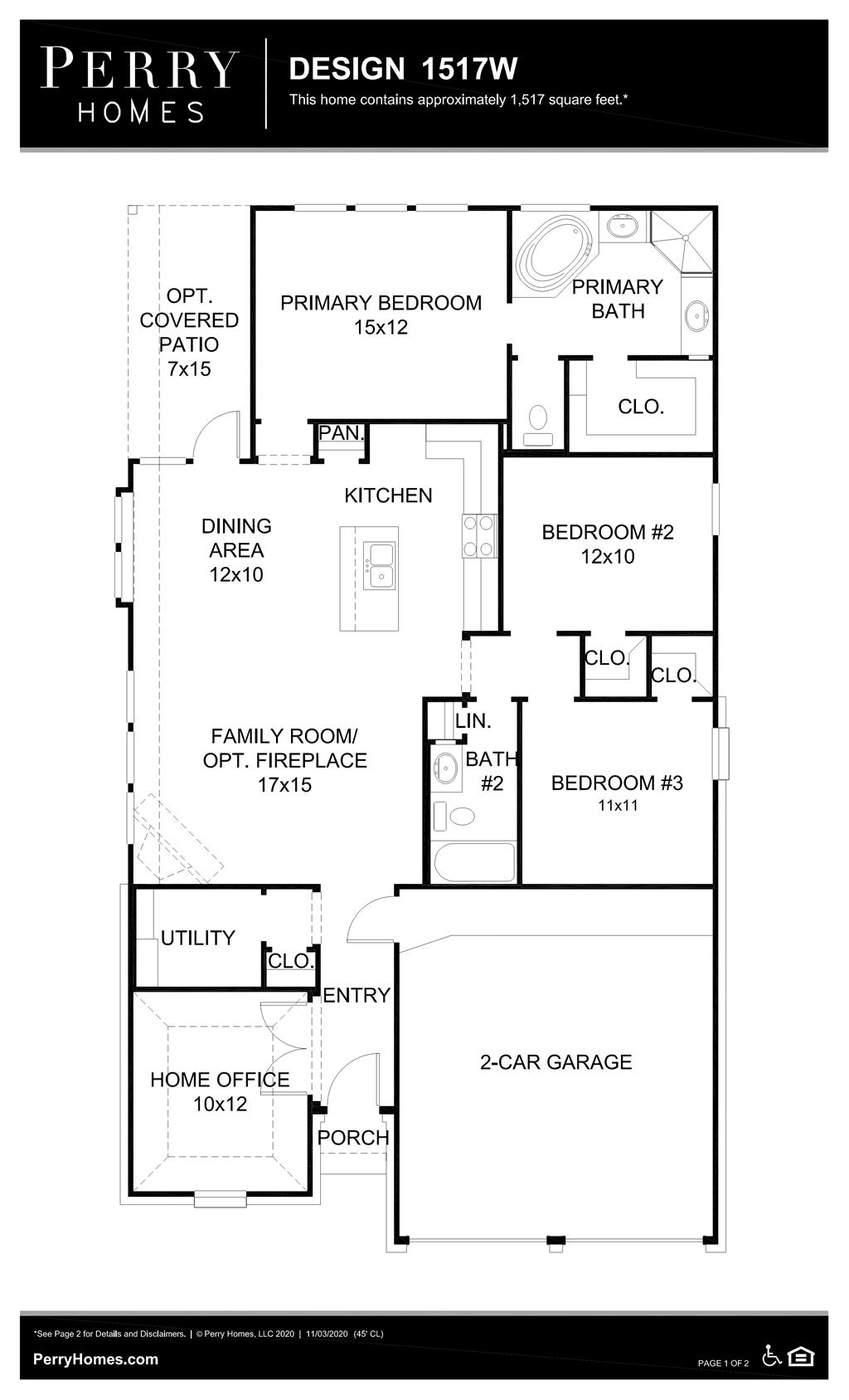 Floor Plan for 1517W