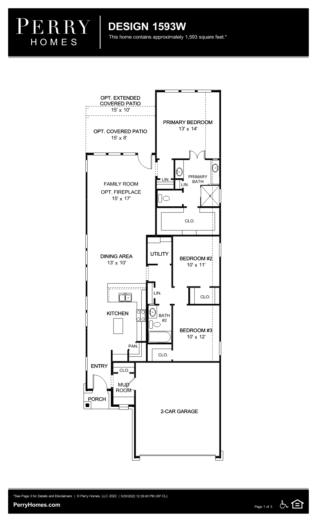 Floor Plan for 1593W