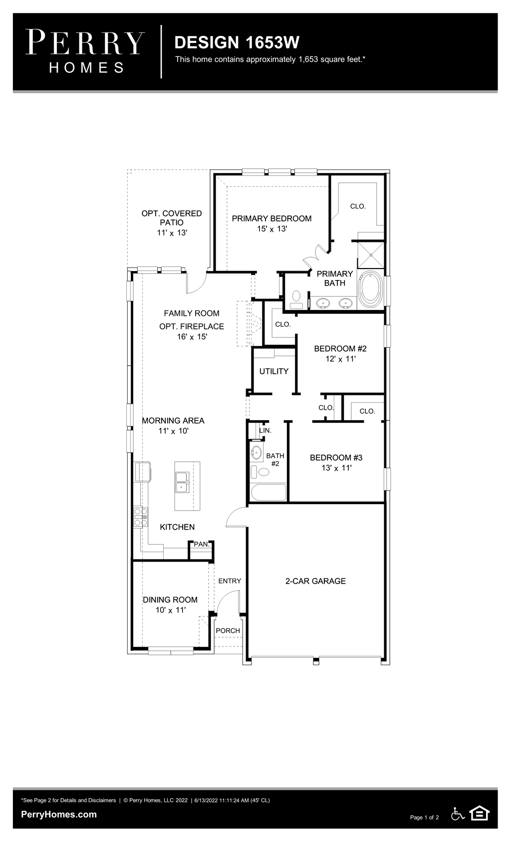 Floor Plan for 1653W
