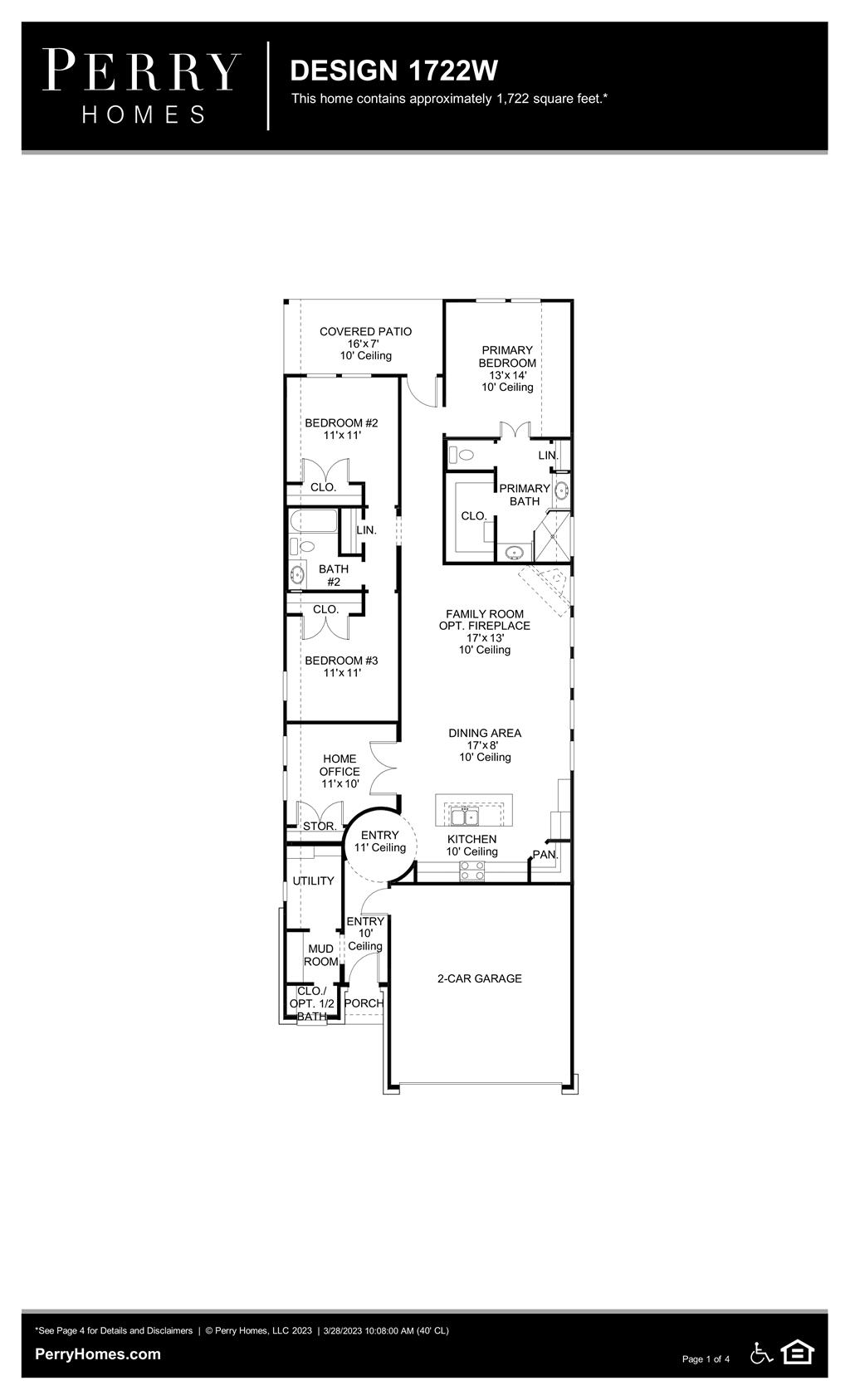 Floor Plan for 1722W
