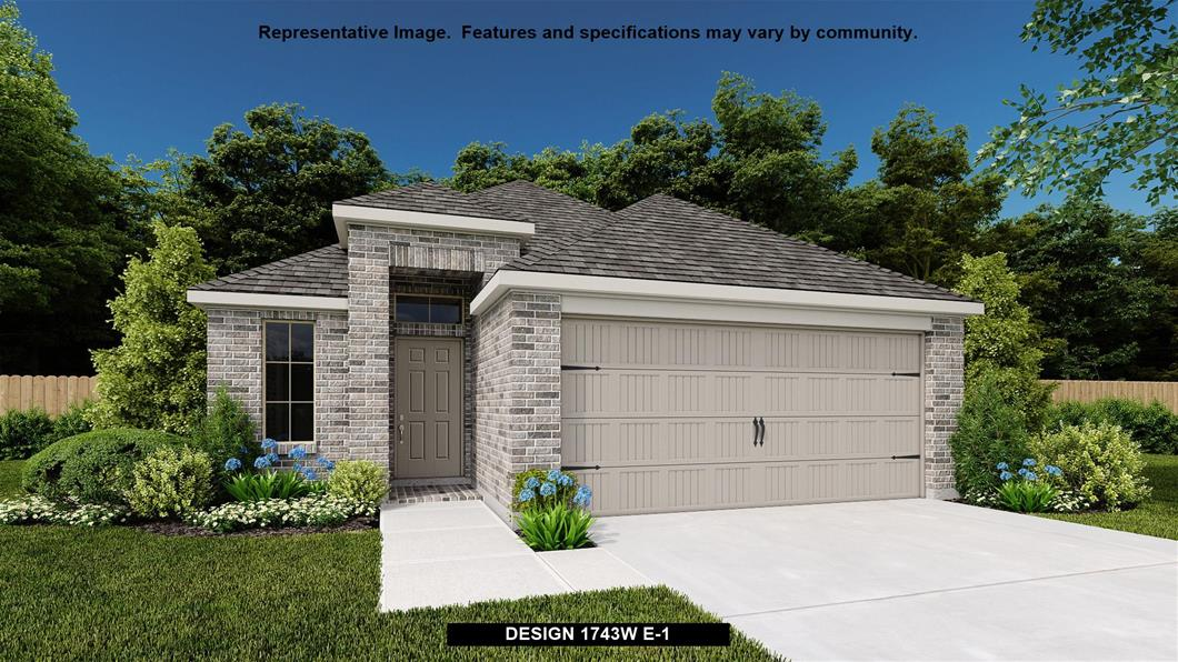 New Home Design, 1,743 sq. ft., 3 bed / 2.0 bath, 2-car garage