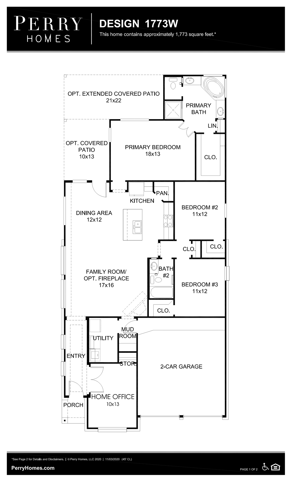 Floor Plan for 1773W