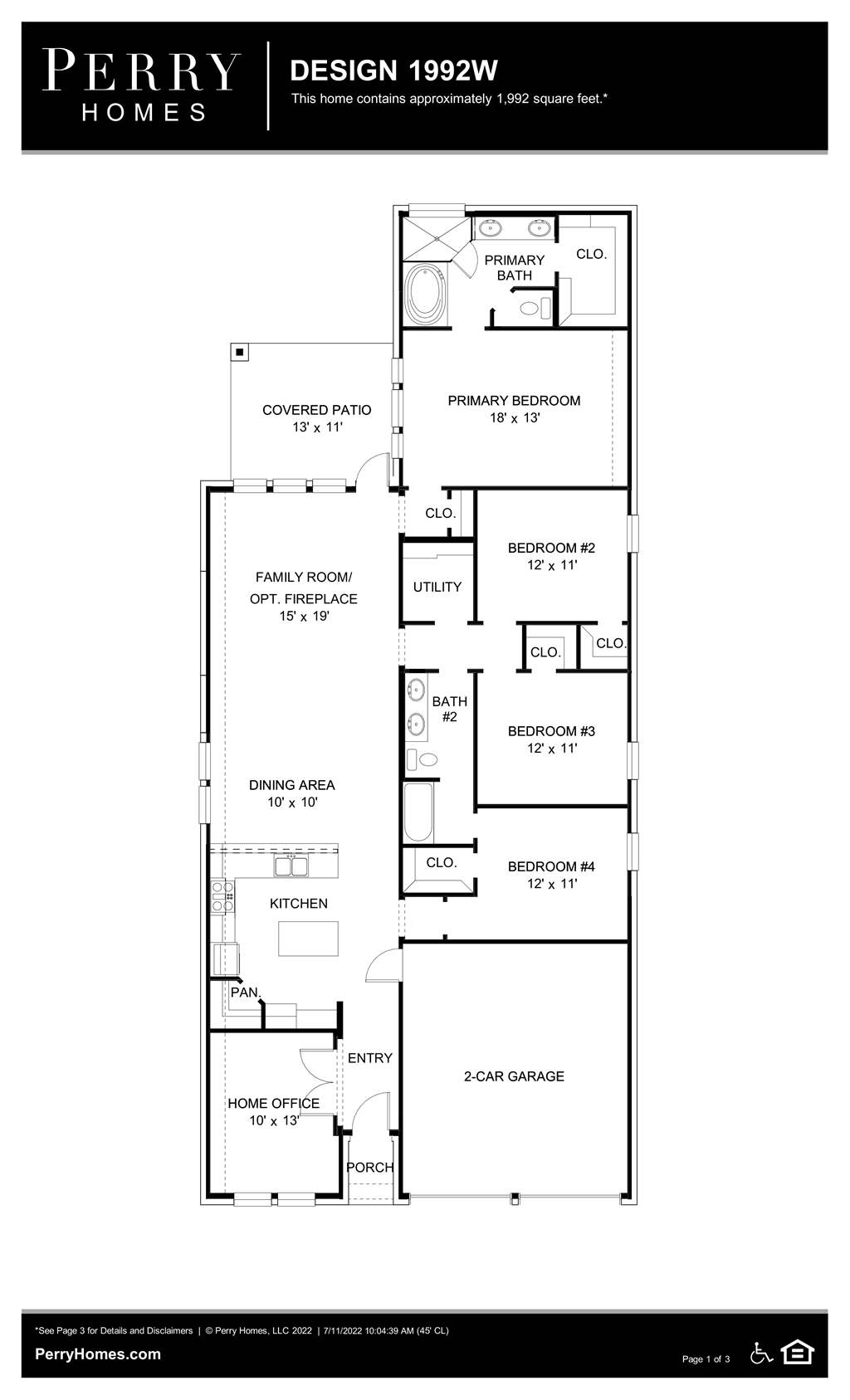 Floor Plan for 1992W