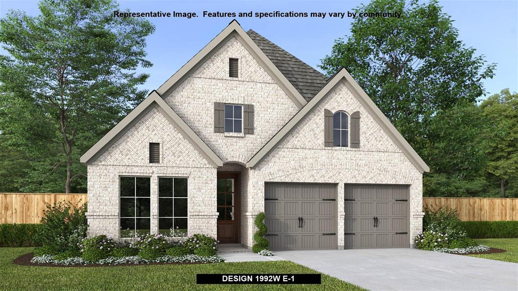 New Home Design, 1,992 sq. ft., 4 bed / 2.0 bath, 2-car garage