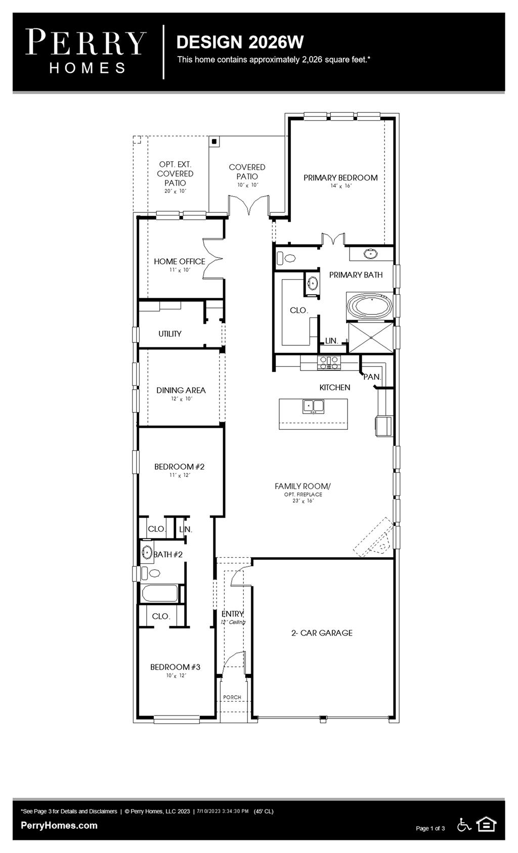 Floor Plan for 2026W