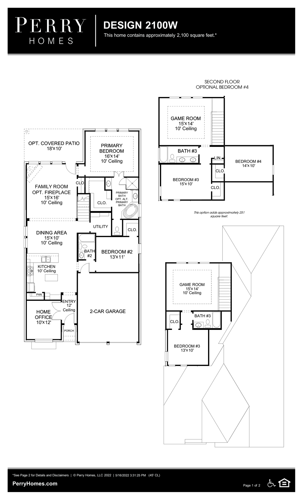Floor Plan for 2100W