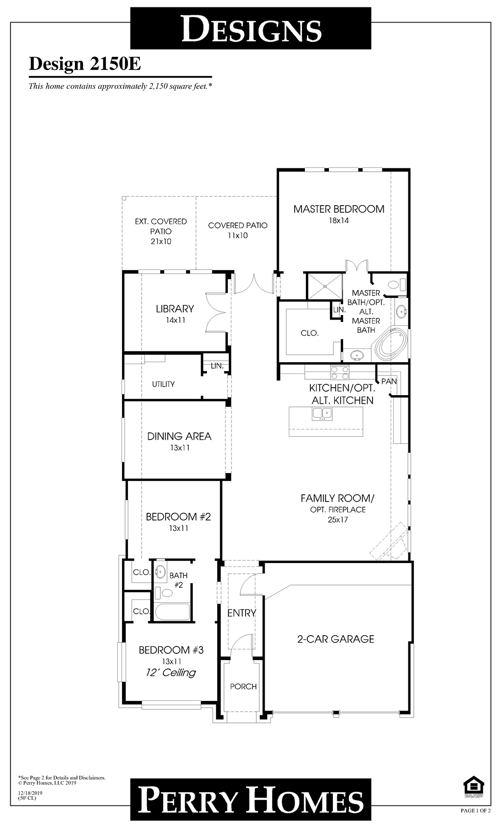 Floor Plan for 2150E