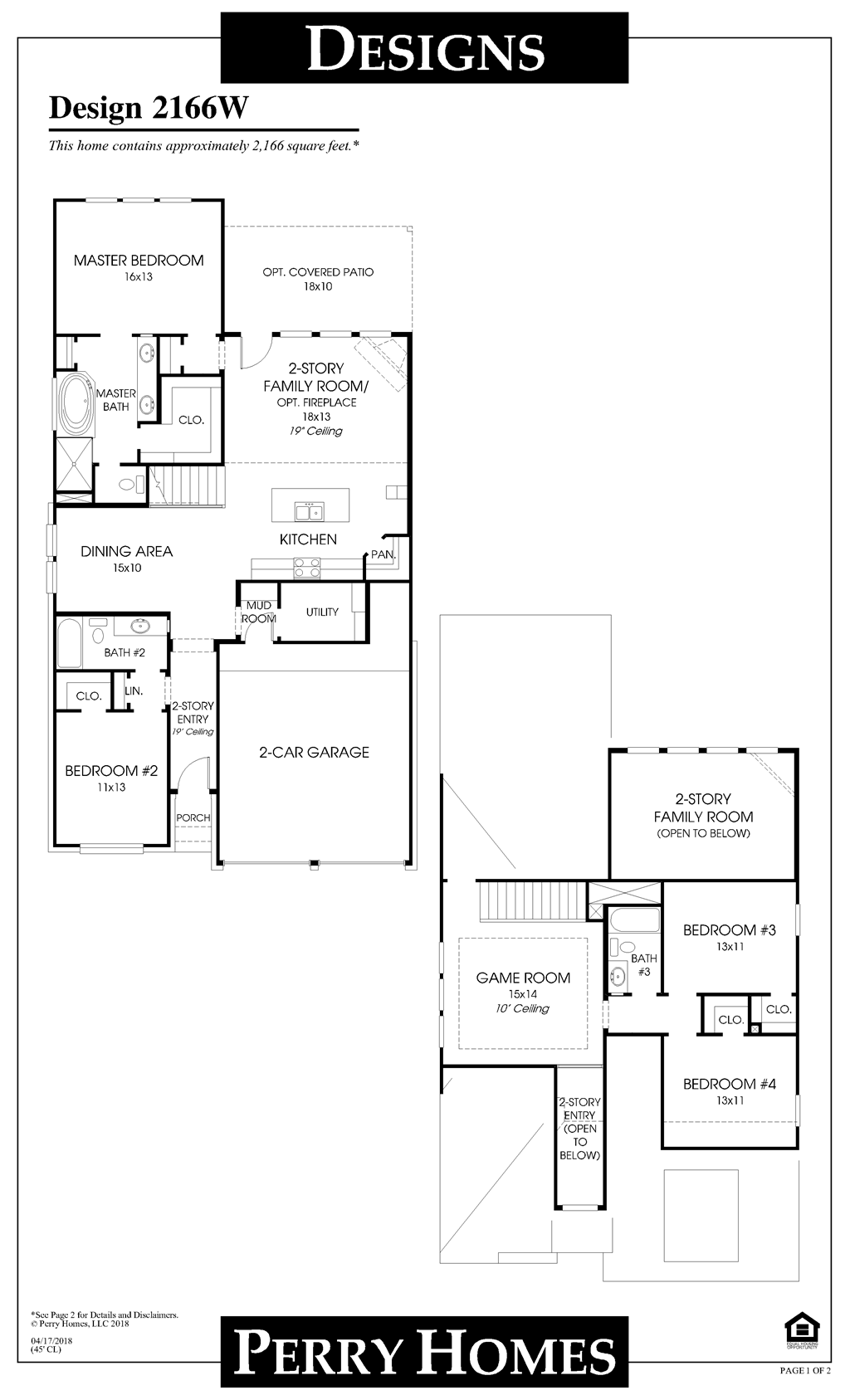 Floor Plan for 2166W