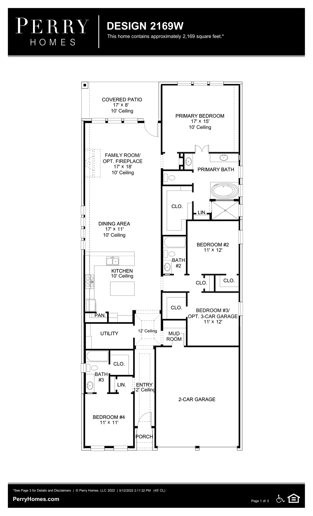 Floor Plan for 2169W