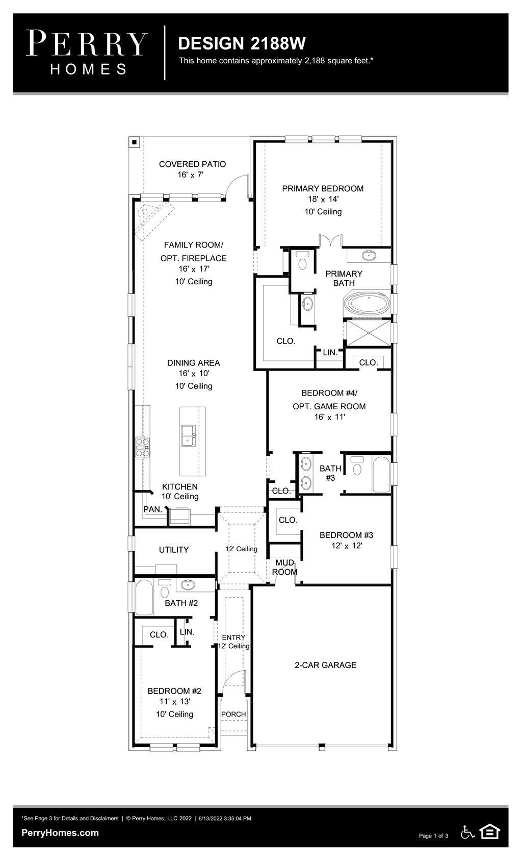Floor Plan for 2188W