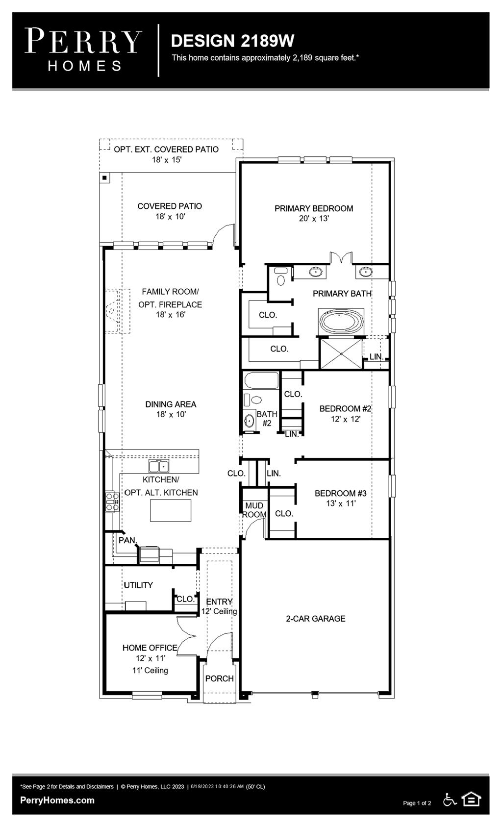 Floor Plan for 2189W