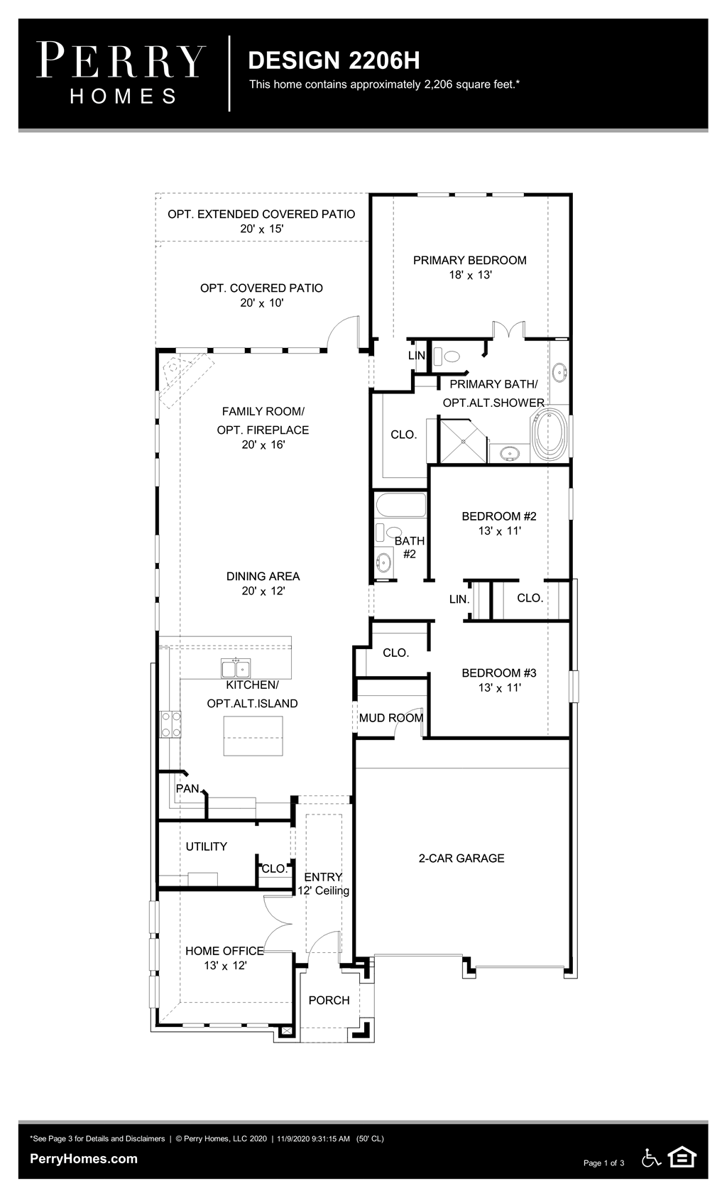 Floor Plan for 2206H