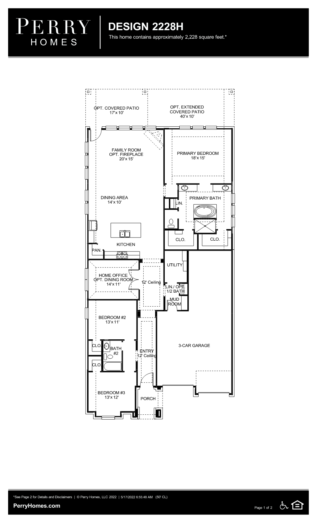 Floor Plan for 2228H