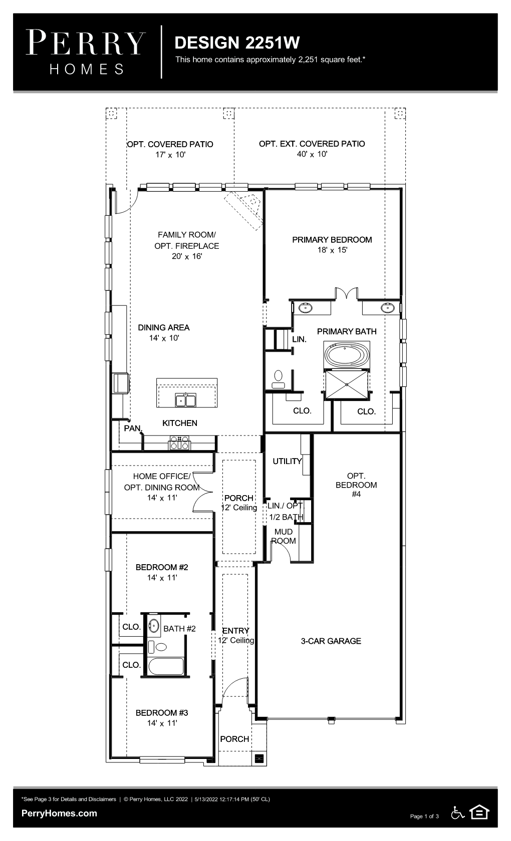 Floor Plan for 2251W