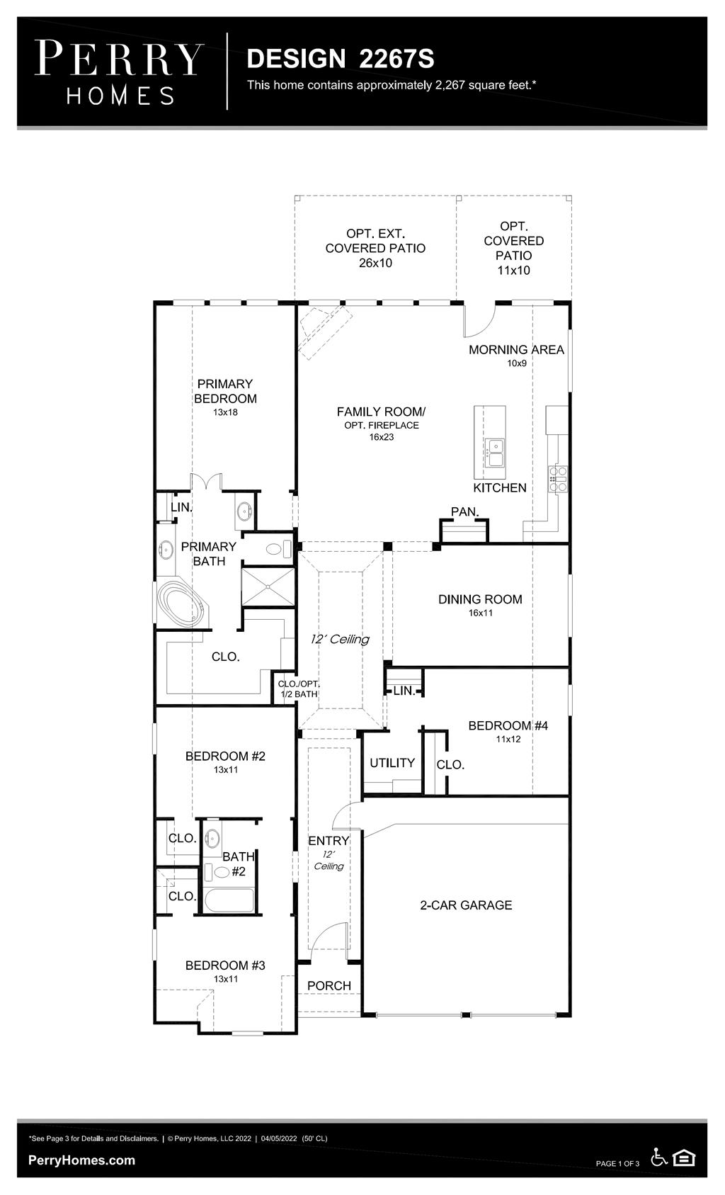 Floor Plan for 2267S