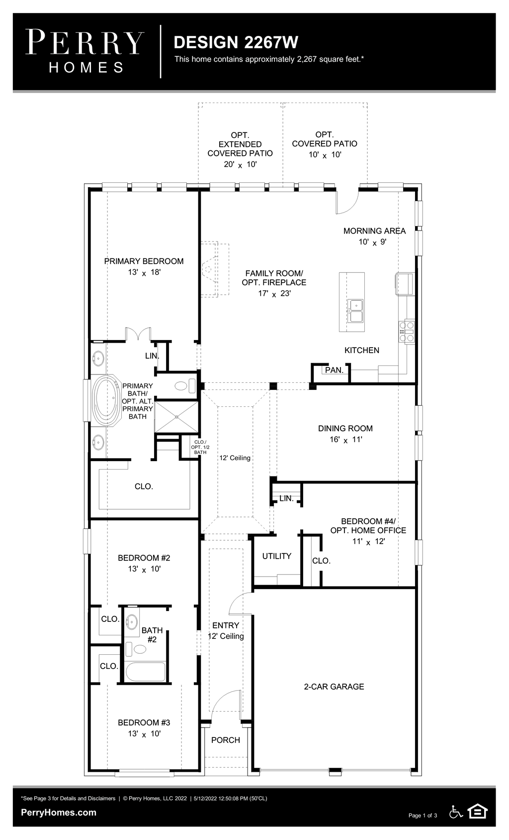 Floor Plan for 2267W