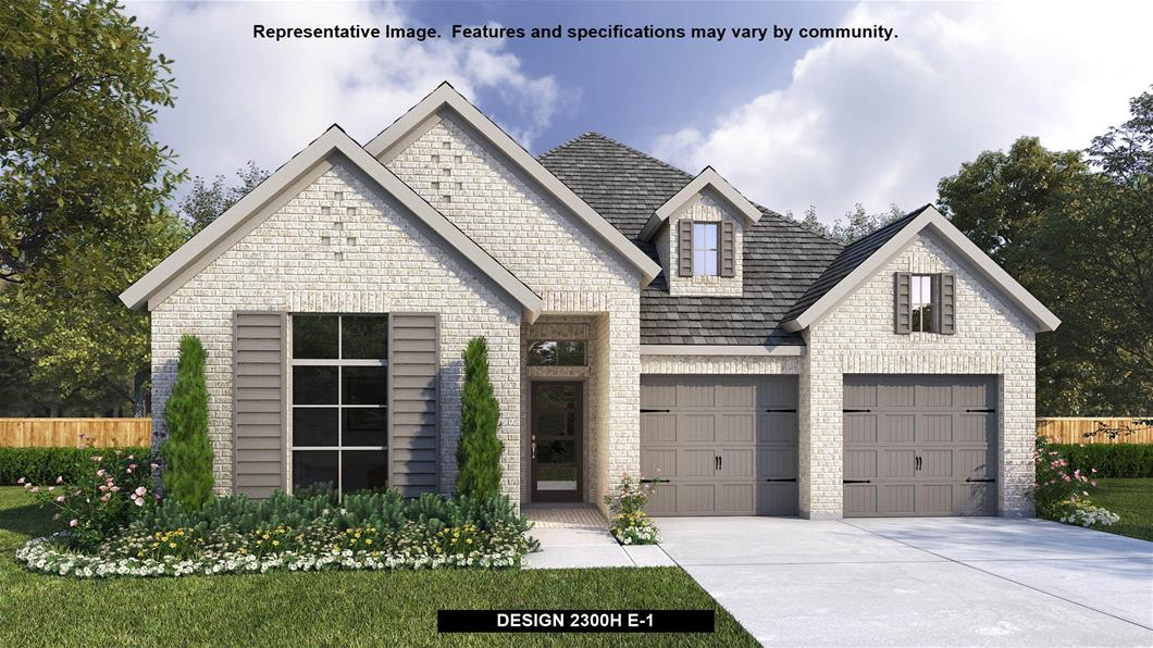 New Home Design, 2,300 sq. ft., 4 bed / 3.0 bath, 2-car garage