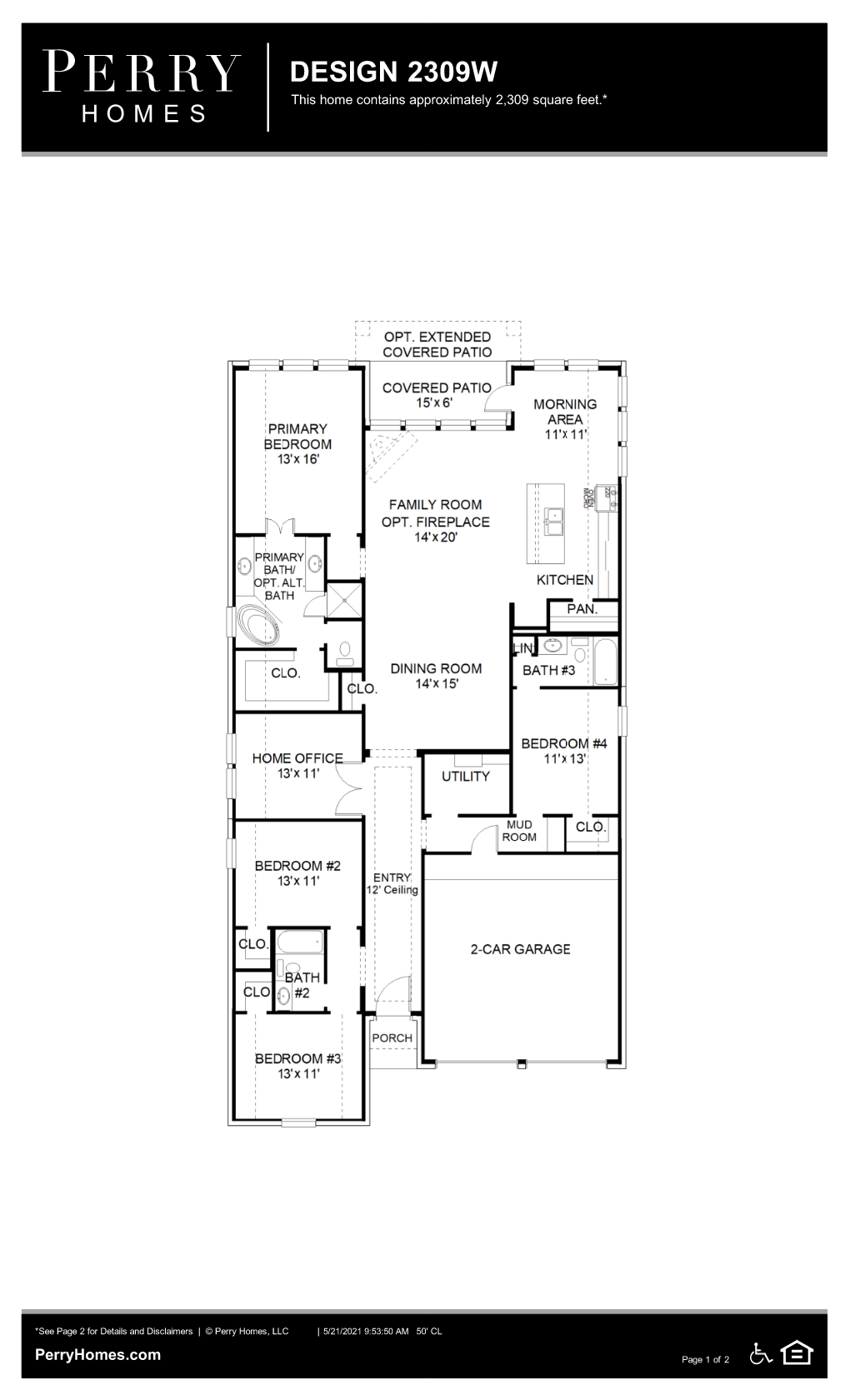 Floor Plan for 2309W