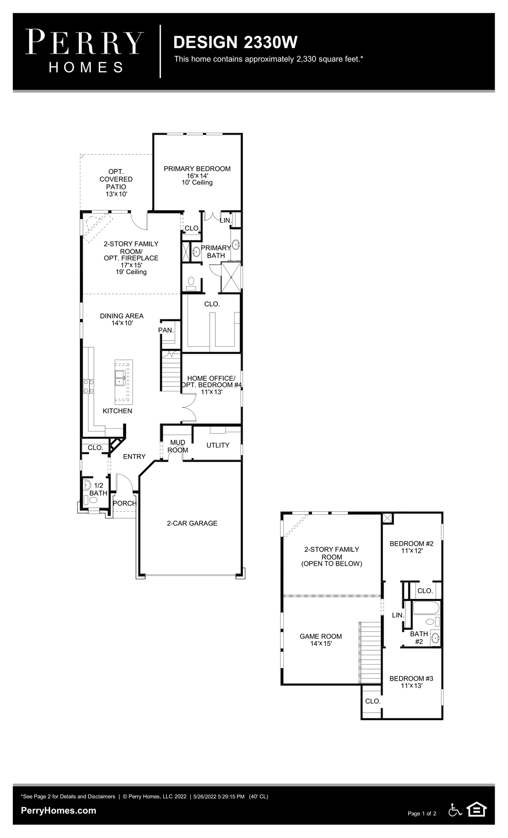 Floor Plan for 2330W
