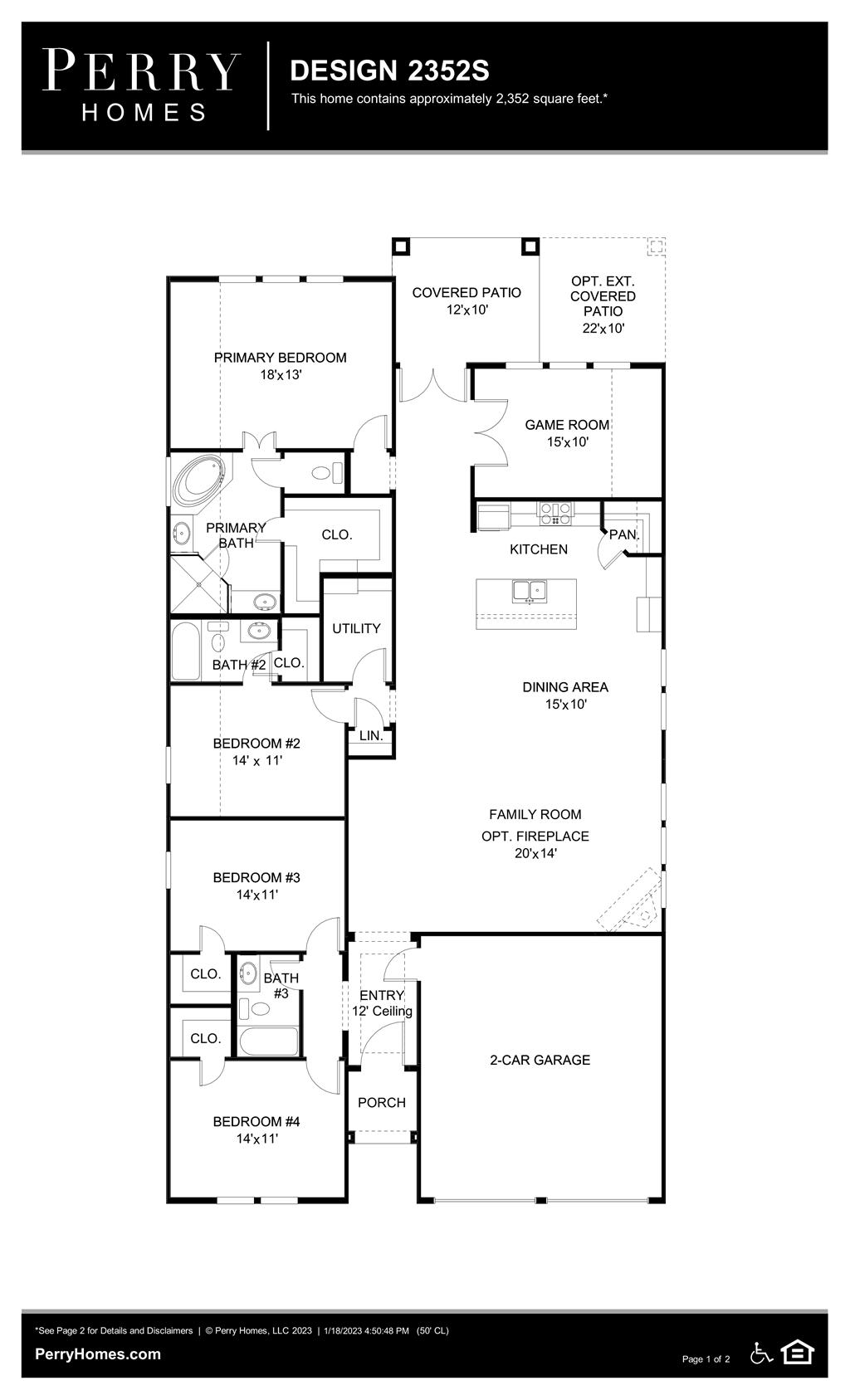 Floor Plan for 2352S