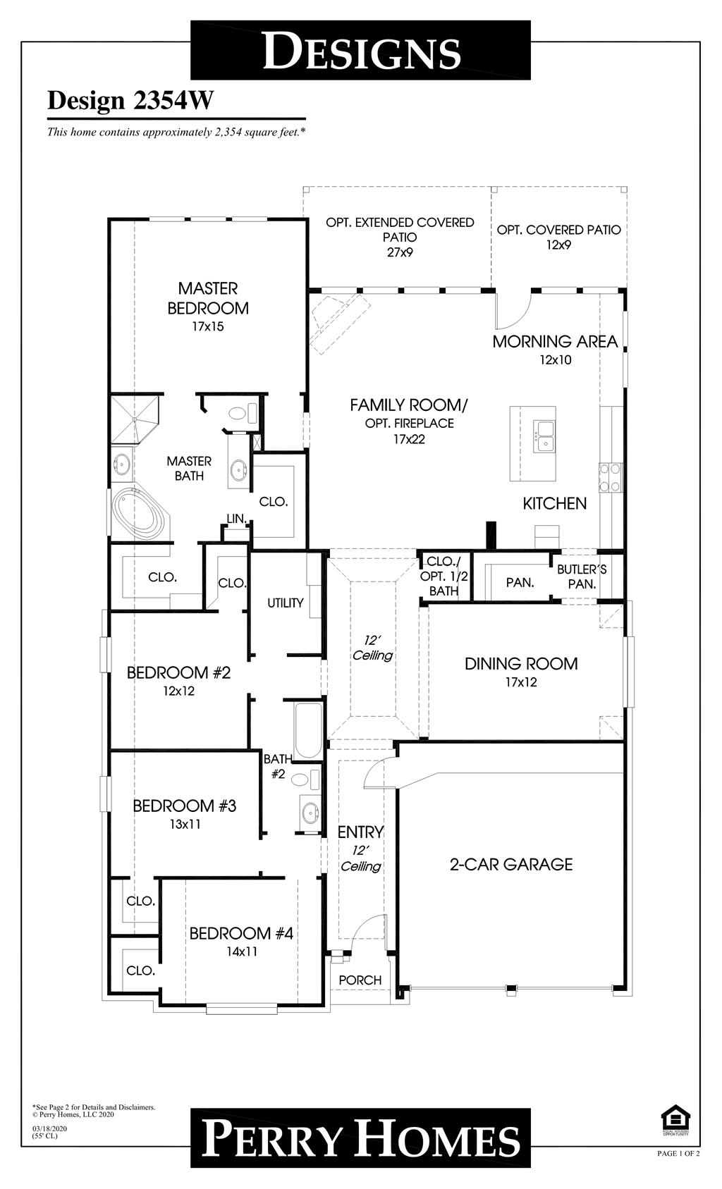 Floor Plan for 2354W
