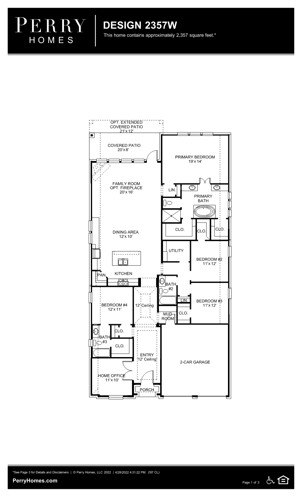 Floor Plan for 2357W