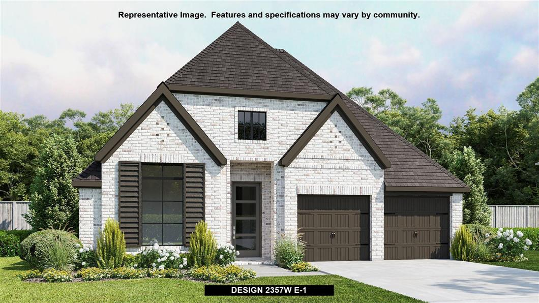 New Home Design, 2,357 sq. ft., 4 bed / 3.0 bath, 2-car garage