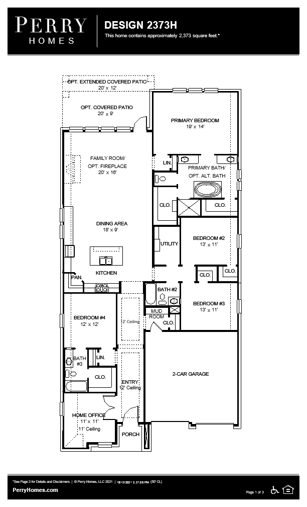 Floor Plan for 2373H
