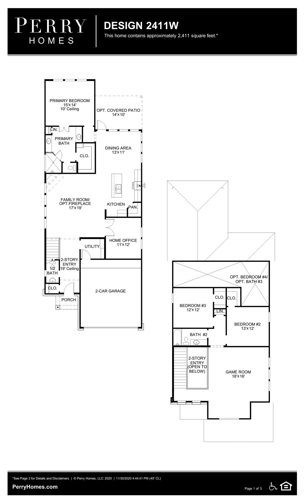 Floor Plan for 2411W