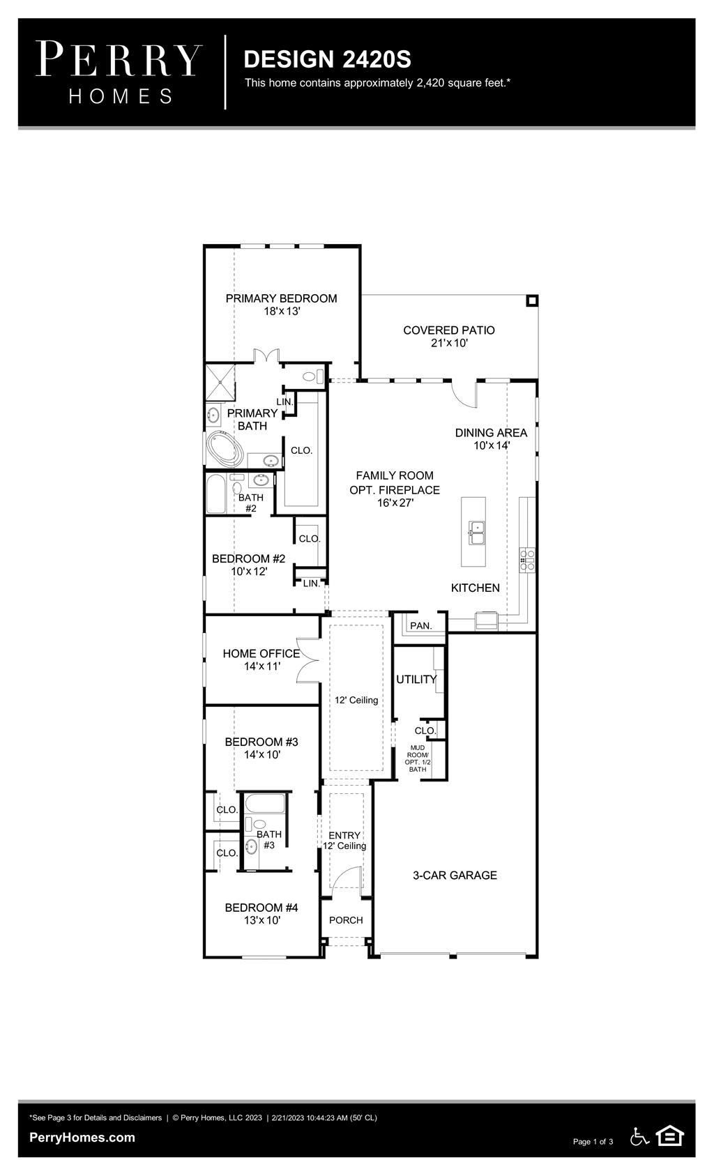 Floor Plan for 2420S