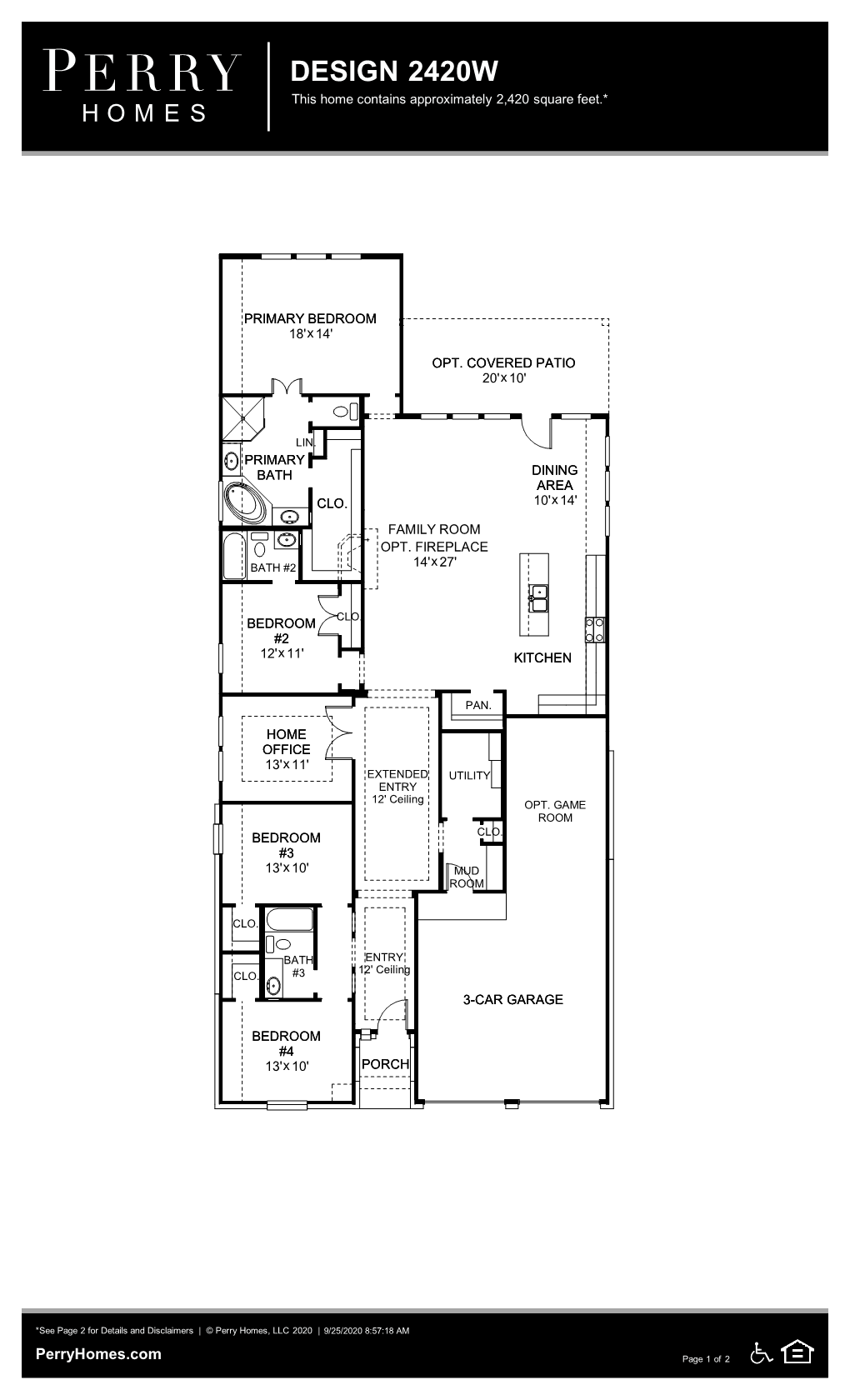 Floor Plan for 2420W