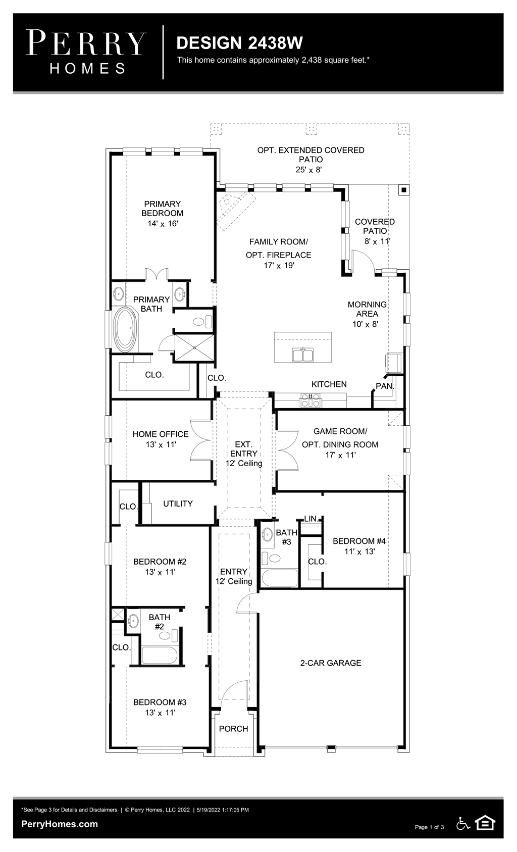 Floor Plan for 2438W