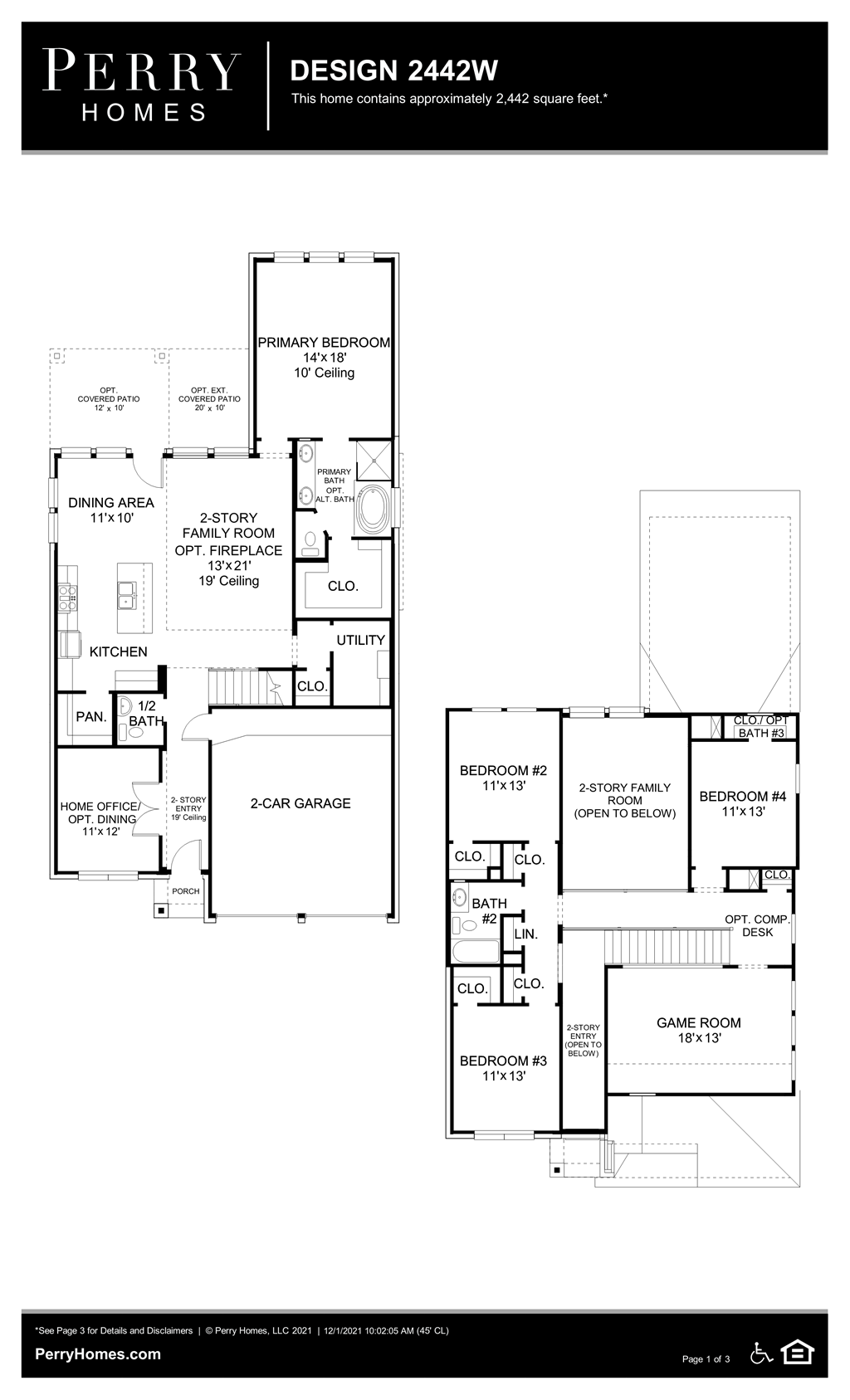Floor Plan for 2442W