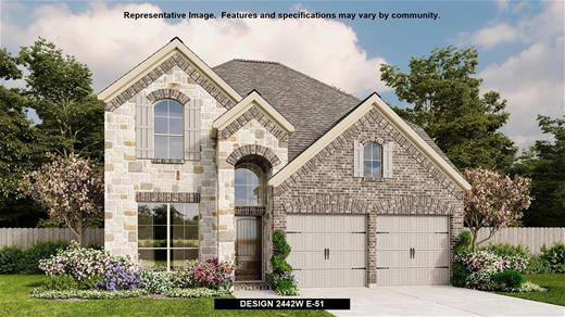 New Home Design, 2,442 sq. ft., 4 bed / 3.5 bath, 2-car garage