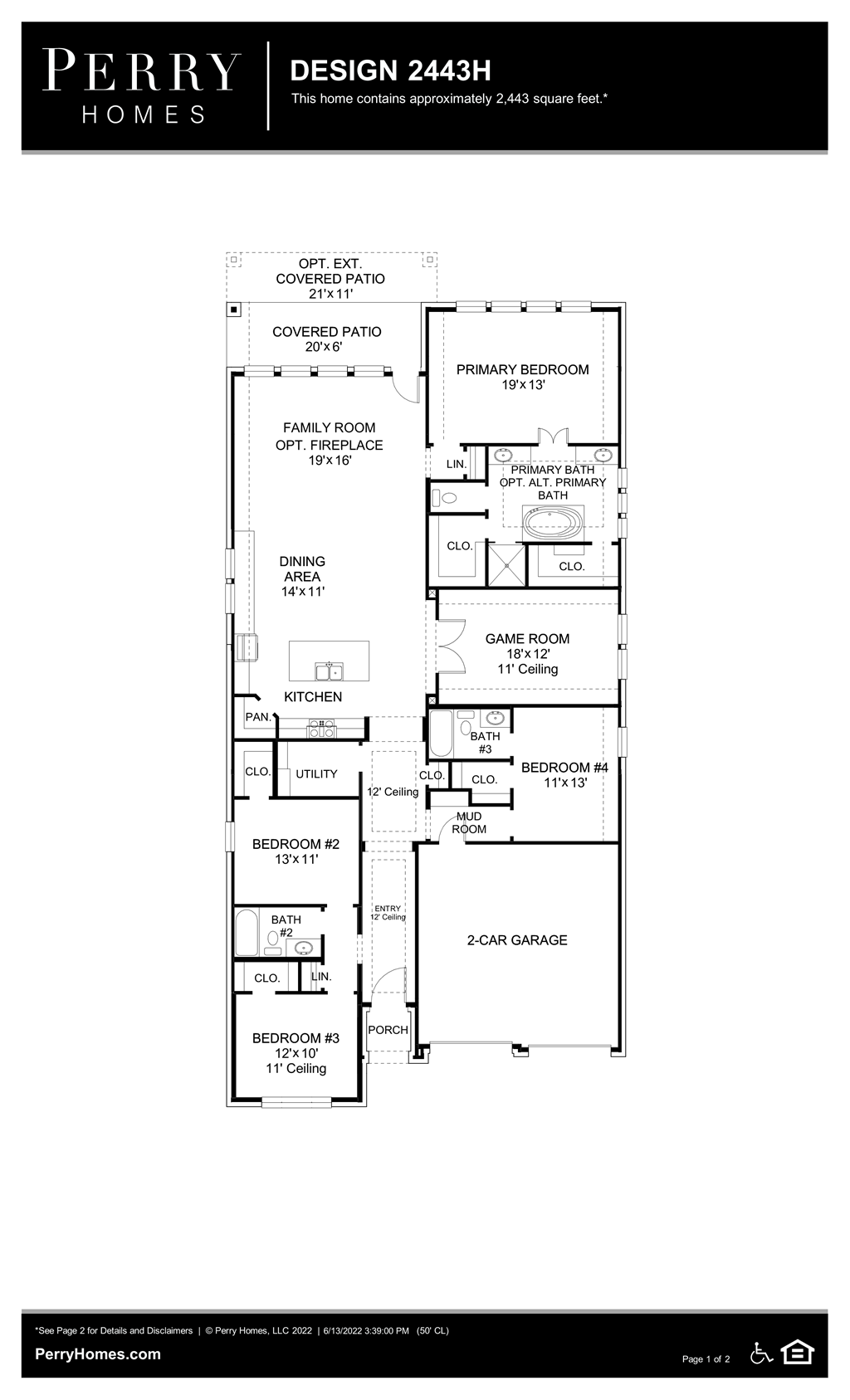 Floor Plan for 2443H
