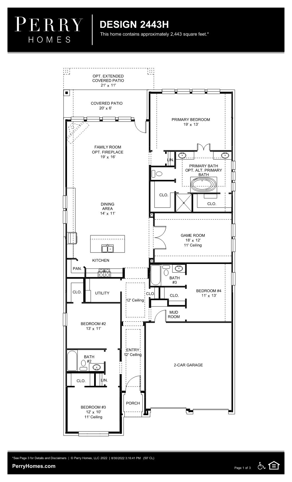 Floor Plan for 2443H