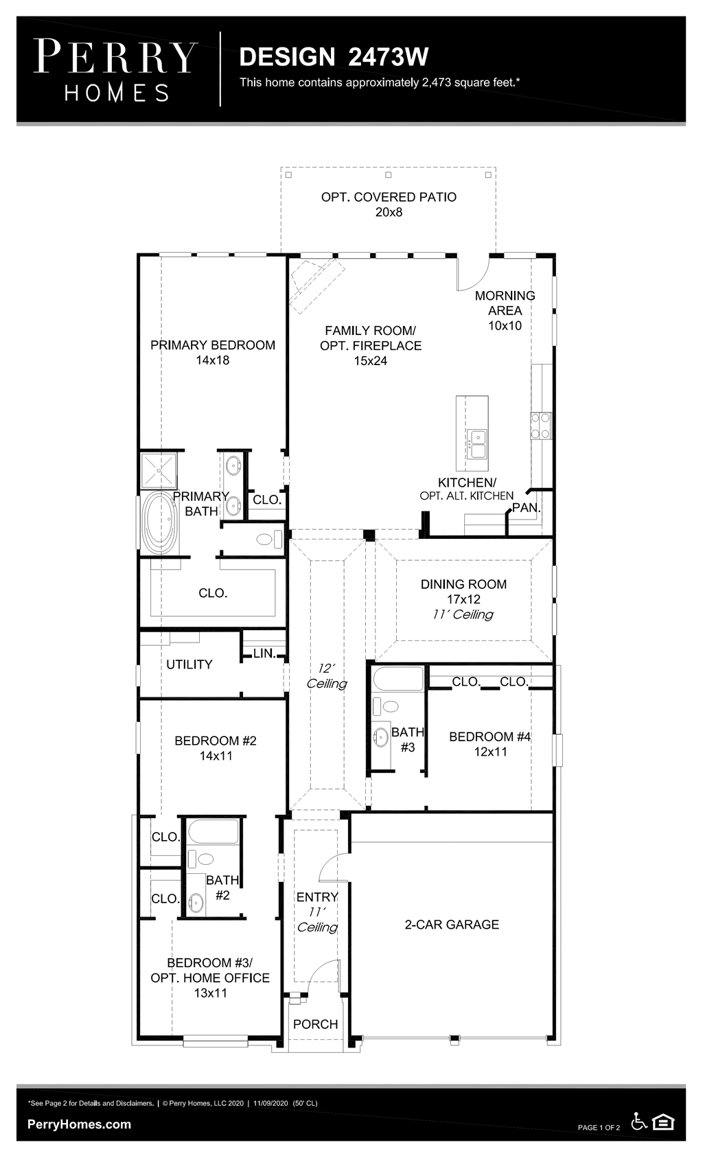 Floor Plan for 2473W