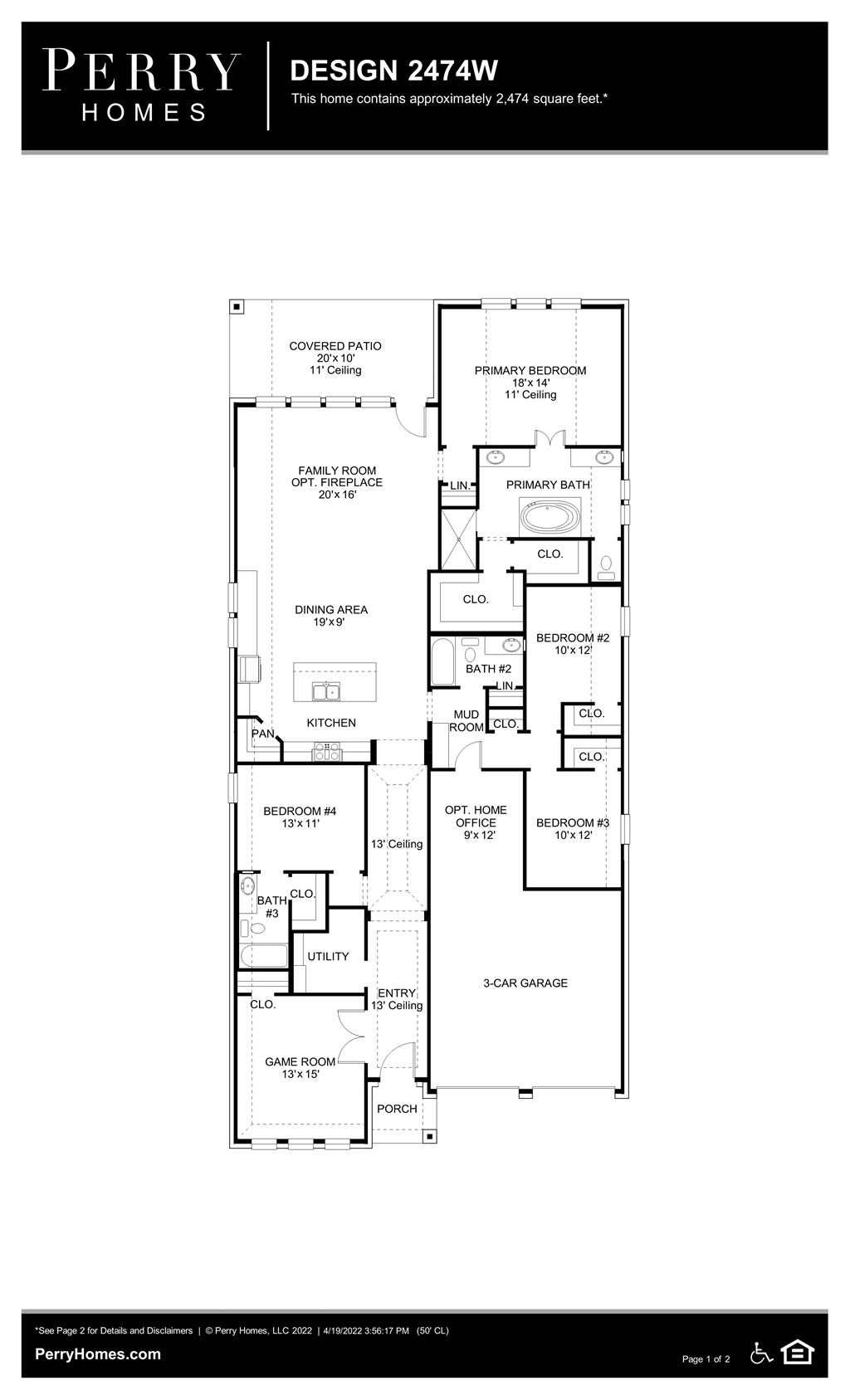 Floor Plan for 2474W