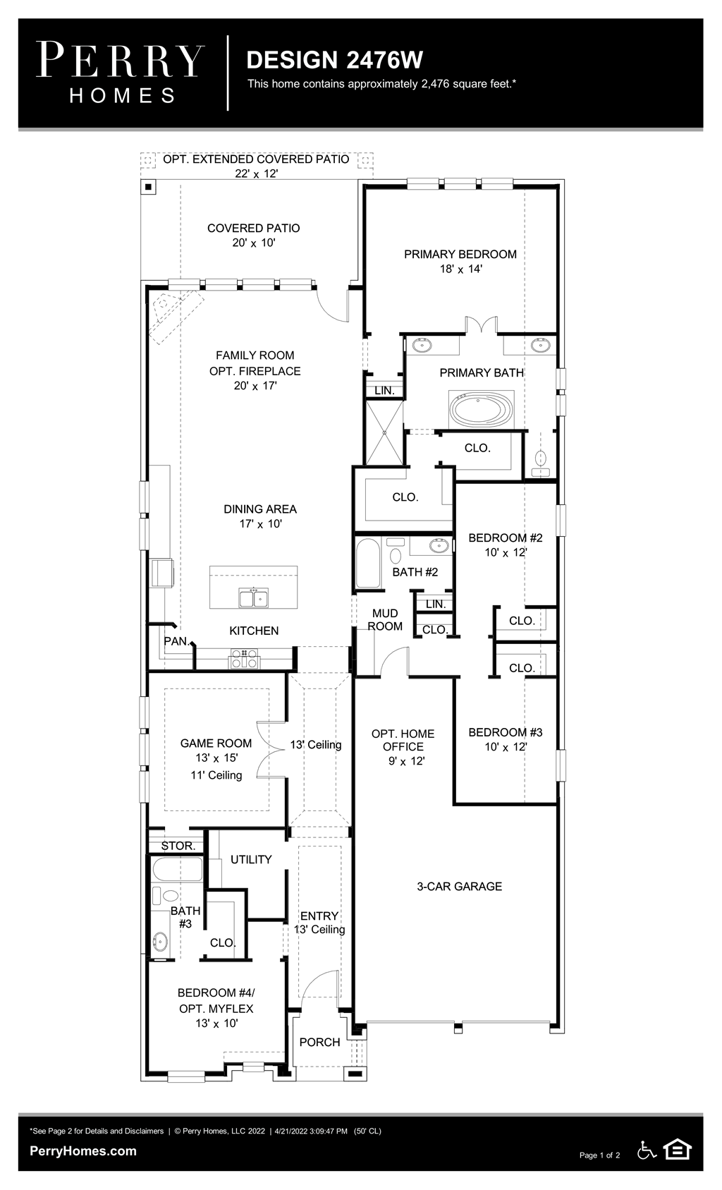 Floor Plan for 2476W