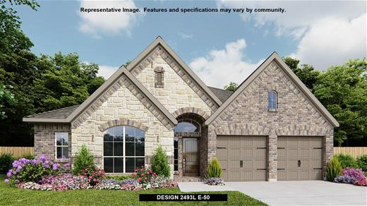 New Home Design, 2,493 sq. ft., 4 bed / 3.5 bath, 3-car garage