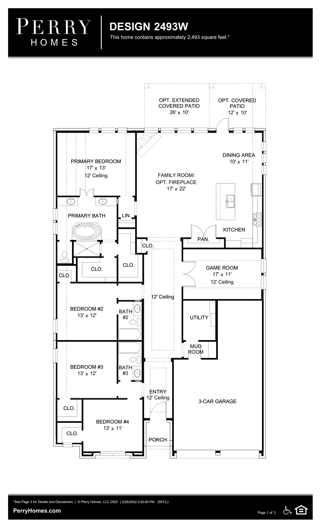 Floor Plan for 2493W