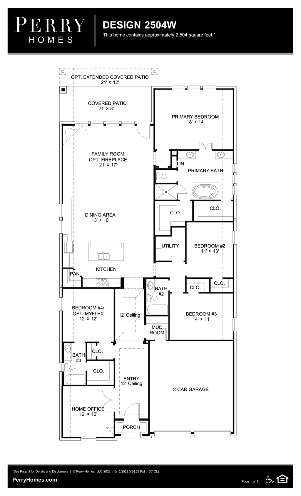 Floor Plan for 2504W
