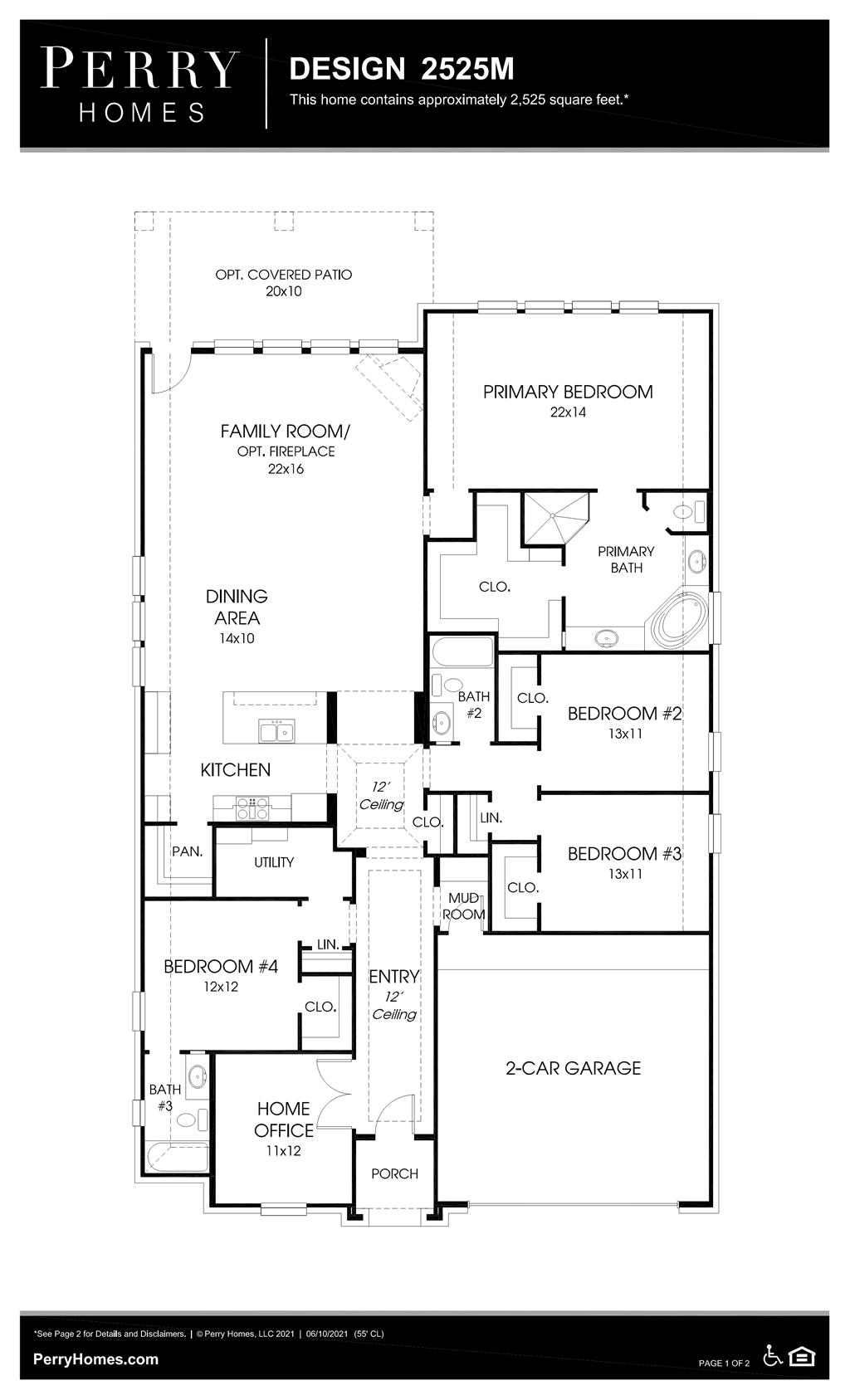 Floor Plan for 2525M