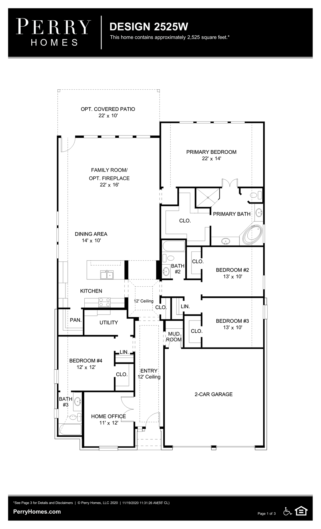 Floor Plan for 2525W
