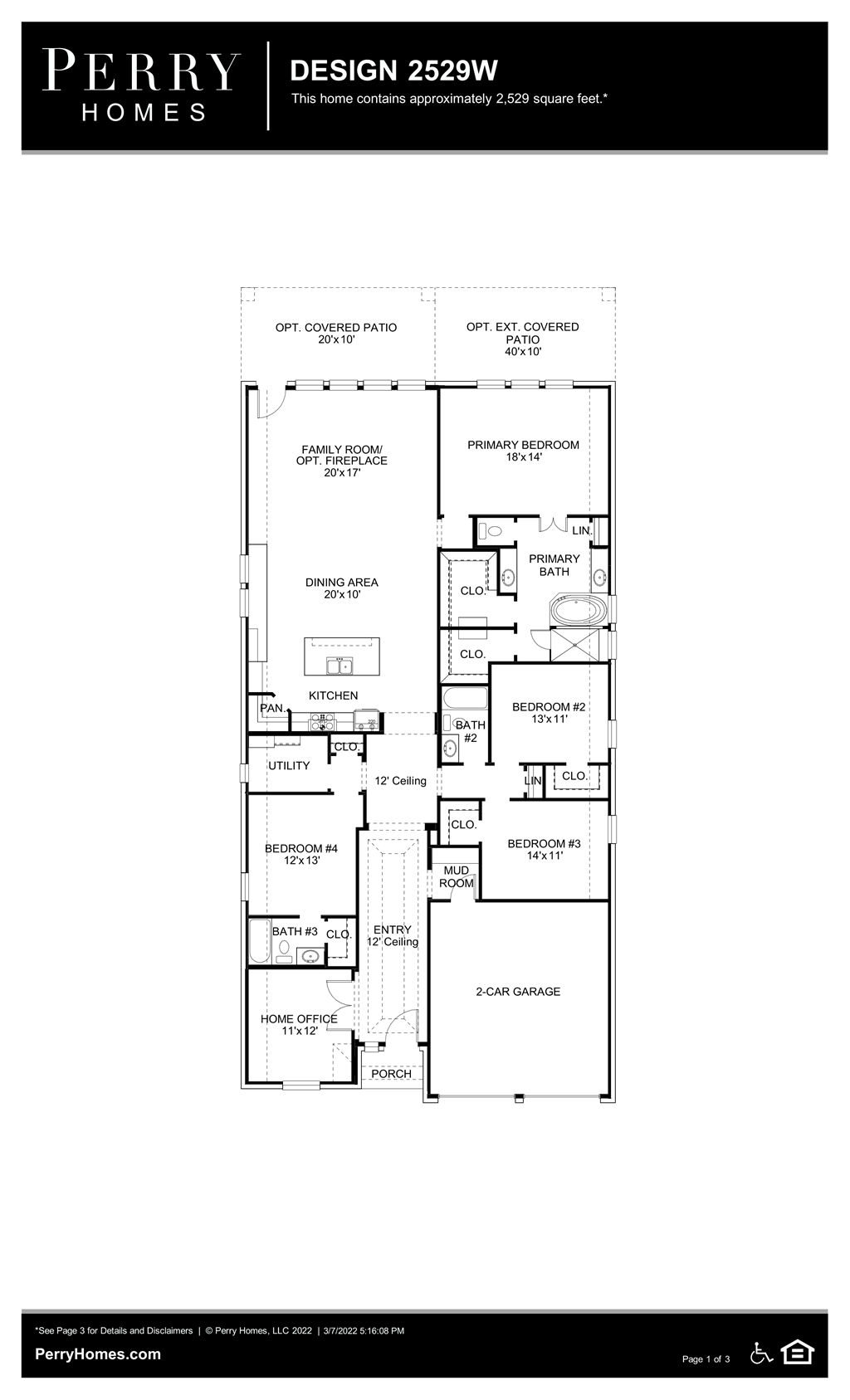 Floor Plan for 2529W