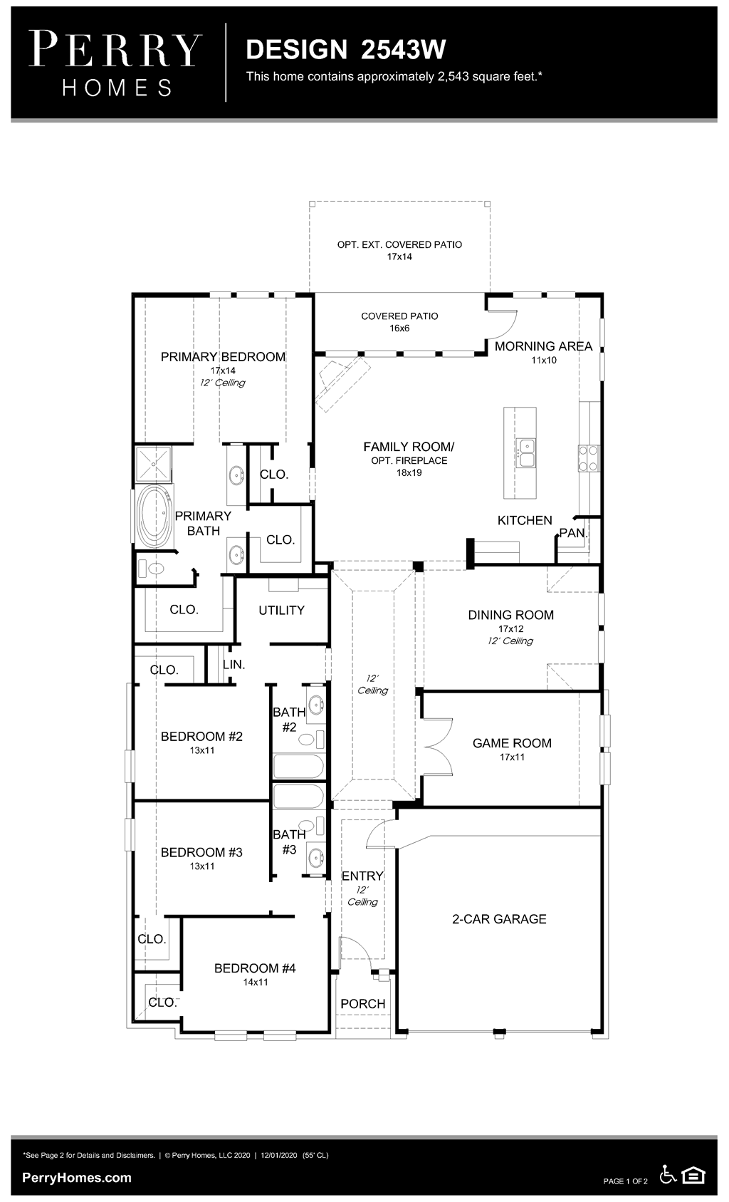Floor Plan for 2543W