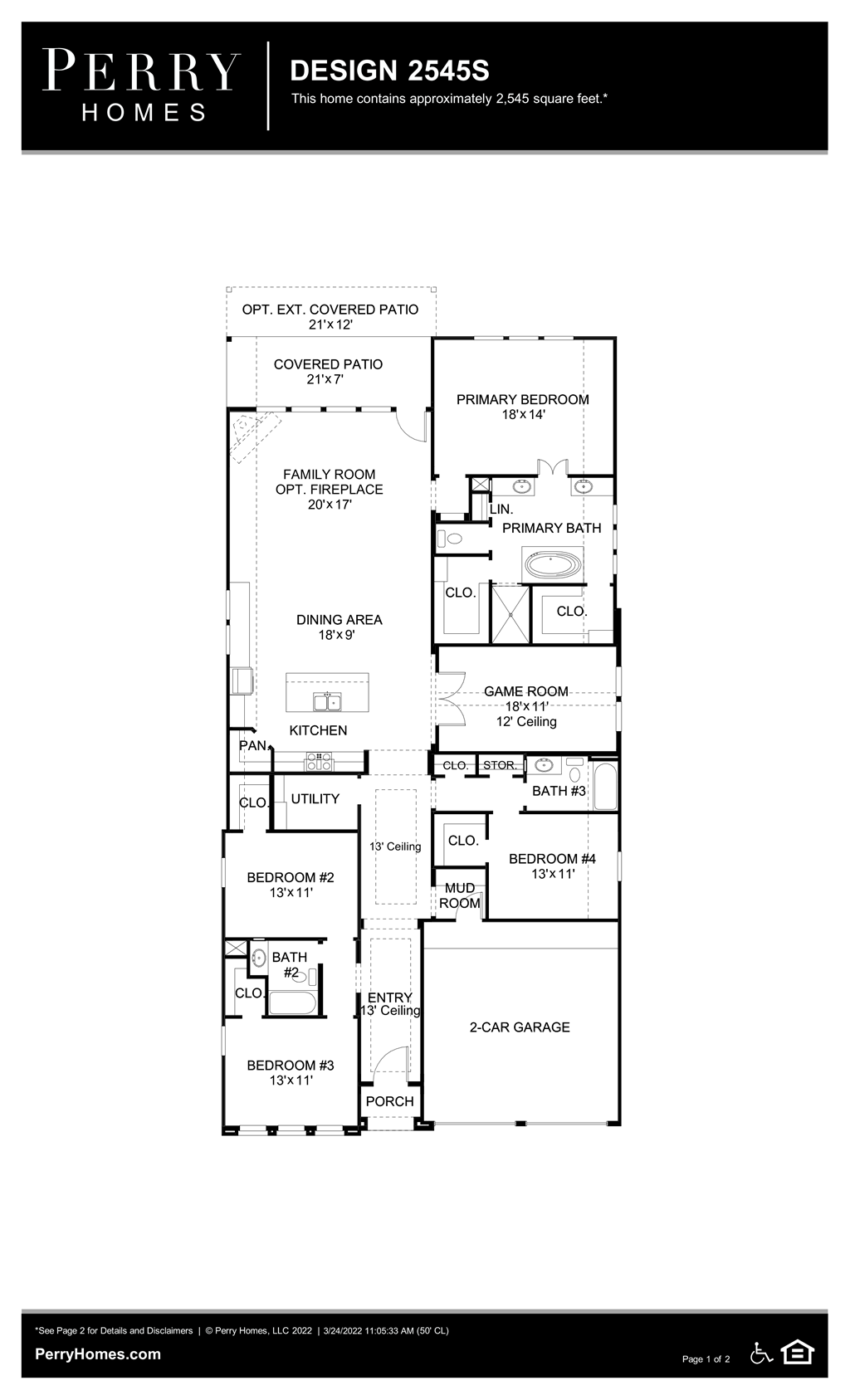 Floor Plan for 2545S