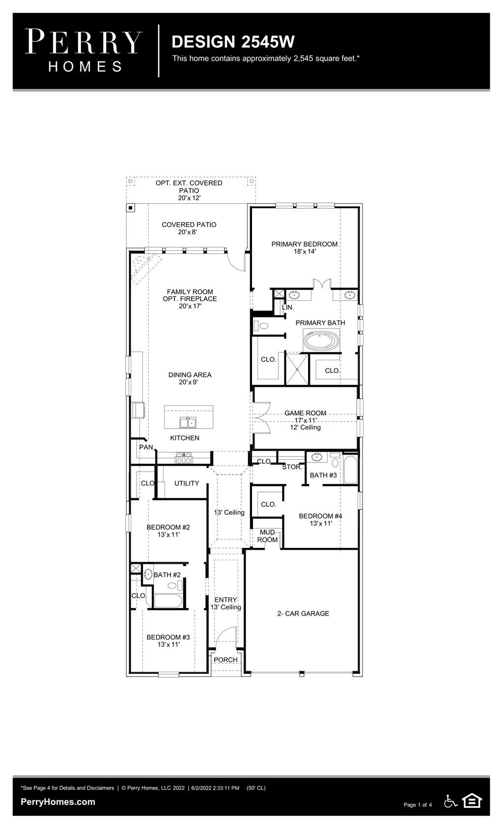 Floor Plan for 2545W