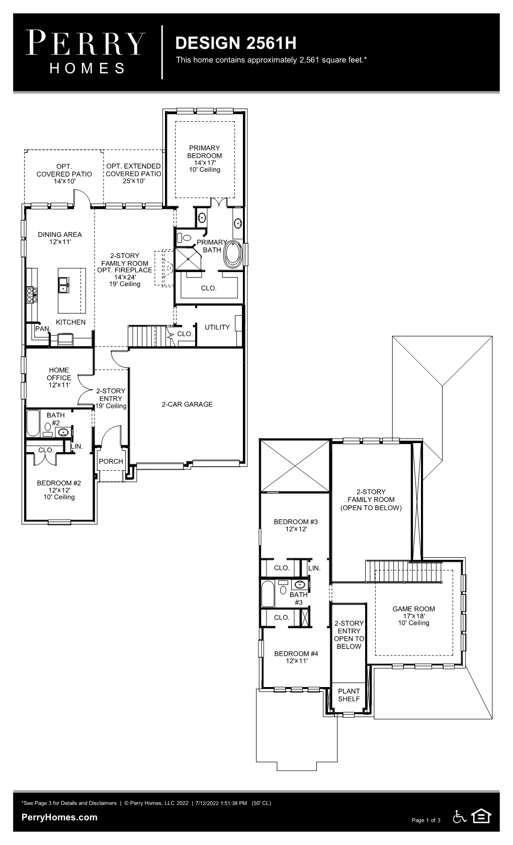Floor Plan for 2561H