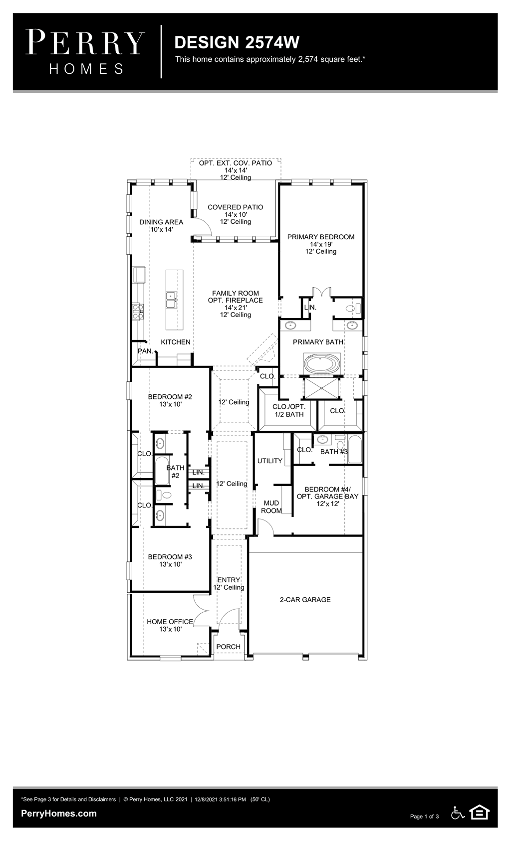 Floor Plan for 2574W